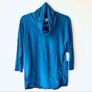 NWT Lou & Grey Blue Signaturesoft Cowl Tunic sz XS